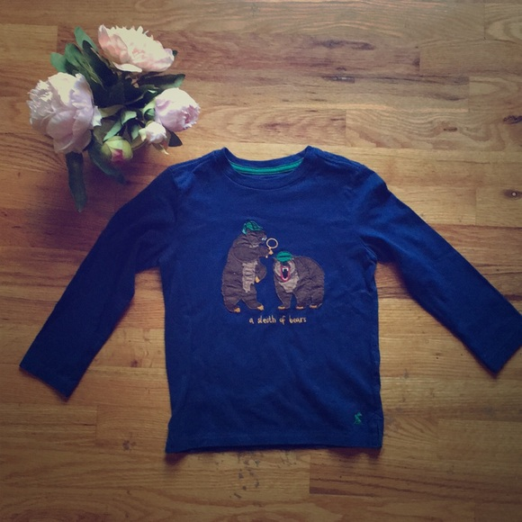 """Joules Other - NWOT """" A sleuth Of bears"""" Joules long sleeved top"""